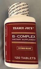 Two (2) Bottles!!  Trader Joe's B-complex Dietary Supplement - 120 Caplets Each