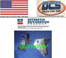 1969 1/2 A12 Super Bee Road Runner Six Pack Hood Pin Rear Mounting Bracket Set