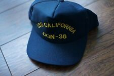 USS California CGN-36 Embroidered Baseball Cap Black, made in USA small - medium