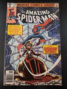 ⭐️ AMAZING SPIDER-MAN #210 1st Appearance Madam Web (1980 MARVEL Comics) FN Book