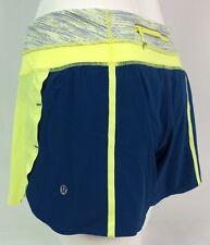 Lululemon Groovy Run Short *Bonded Size 4 Clarity Yellow Blue Women's Running