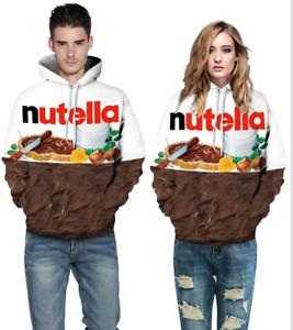 Fashion3 Print Sweatshirt Pullover Hoodies Unisex 3D Nutella Chocolate Graphics