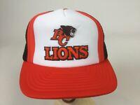 CFL BC Lions Snapback Vintage 1980s cap Canadian Football League hat mesh back