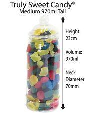 970 ml Plastic Victorian Style Empty Sweet Jars - 5,10,15,20,25 Wedding, Party