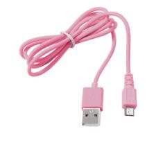 Micro USB Kabel Ladekabel Datenkabel Ladegerät für Handy Tablet Smartphone Rosa