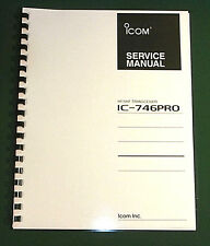 """Icom IC-746PRO Service Manual: 11"""" X 36"""" Color Schematics & Protective Covers!"""