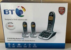 BT4500 BIG BUTTON TRIO DIGITAL CORDLESS PHONE WITH ANSWER MACHINE