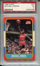 1986 Fleer Basketball #57 Michael Jordan Rookie Card RC Graded PSA 5 Bulls