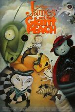 JAMES AND THE GIANT PEACH 1996 MOVIE POSTER TWO 2 SIDED Rolled DISNEY