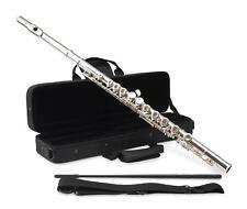 Flute Traversiere Instrument a Vent Set Embout Etui Rembourrage Maillechort