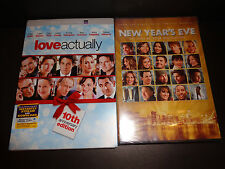 LOVE ACTUALLY w/Dig code to 12-31-17 & NEW YEAR'S EVE-2 DVDs-Romantic comedies