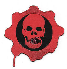 Gears of War Game Skull and Cog Logo Embroidered Patch, NEW UNUSED