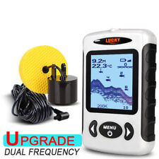"""LUCKY 2.2"""" Fish Finder 100M Dual Sonar Frequency White Led Backlight 60 Degree"""