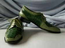 Giorgio Brutini Men's Animal Croc/Alligator Style Two Tone Green Shoes Size 11.5