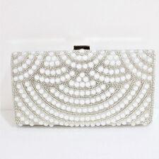 PY2 Womens Crystal Diamante Clutch Bag Purse Evening Party Bridal Prom Handbag