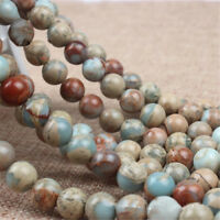 Natural Stone Beads ShouShan Blue Sea Sediment Jaspes Beads For Jewelry Making