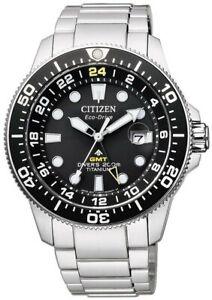 Citizen Promaster Eco Drive Titanium Marine BJ7110-89E GMT Divers Watch