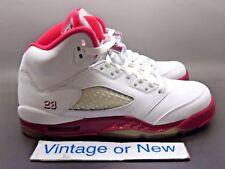 Girls Nike Air Jordan V 5 Scarlet Red Retro GS 2011 sz 6Y