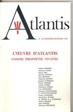 REVUE ATLANTIS N°300 SEPTEMBRE DECEMBRE 1978. L OEUVRE D ATLANTIS...