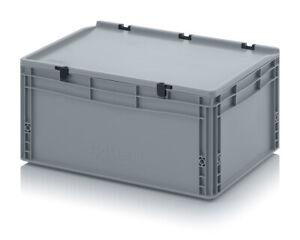 Auer Eurobehälter mit Deckel ED 64/27 HG 60x40x28,5cm Lagerbox Stapelkiste Kiste
