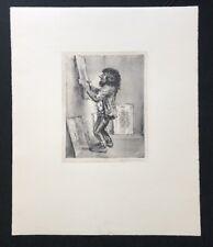 A. Paul Weber, Mit Zuversicht, Lithographie, 1975, handsigniert