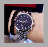 ✅ Tissot T0554171104700 PRC 200 Silver-Tone Blue Dial Chronograph Men's Watch