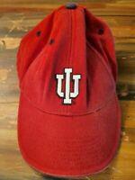 Indiana University Hat - Signatures Brand - Adjustable - Red, Black - IU Logo