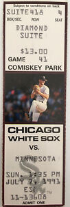 Chicago White Sox Vs Minnesota Twins Ticket Stub (Jul 7, 1991, Comiskey Park)