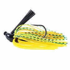 8Pcs 10g Weedless Football Jig Chatterbait Rubber Skirt Lure Bass Fishing Bait