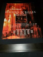 Guns N Roses Oh My God Rare Original Radio Promo Poster Ad Framed! #2
