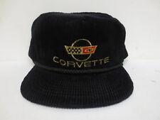 CORVETTE HAT CAP ZIPBACK VINTAGE RETRO VTG CREW MENS AMAPRO CAR CORDUROY TRUCKER