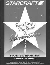 2001 Starlite /Travelstar Camping Popup Trailer Owners Manual