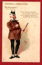 CHARACTERS from DICKENS  1911 TUCK POSTCARD  MR MICAWBER  Artist signed  KYD