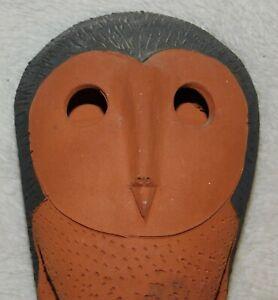 RARE SCHAER AUSTRALIAN POTTERY OWL - TERRACOTTA & BLACK