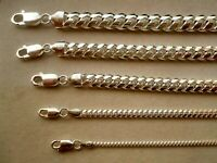""".925 STERLING SILVER SOLID MIAMI CUBAN LINK CHAINS MEN'S/WOMEN'S 2-8MM 20""""-36"""""""