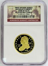 2008 W GOLD $10 JACKSONS LIBERTY 7,684 MINTED 1/2 oz SPOUSE COIN NGC PROOF 70 UC