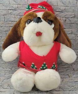 DIGBY & DEXTER Christmas Dog Stuffed Animal COMMONWEALTH Dayton Hudson PLUSH TOY