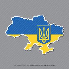 Mapa de Ucrania Bandera Pegatina-Coche-Laptop-Macbook Notebook - 2959