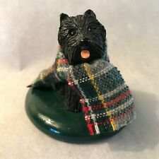 Byers Choice Caroler - Scottish Terrier Scottie Dog with Tartan Plaid Scarf