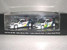 Minichamps Ford Focus RS WRC '04 Mexico Rallye Winner Set  REF.402 048378