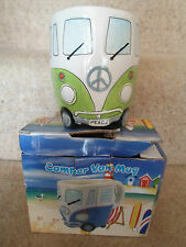 UNUSED Fab VW Camper Split Screen Lime Green Mug ~ Great For Tea or Coffee
