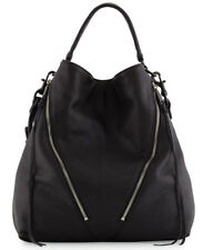 Rebecca Minkoff Moto Hobo Bag Black Leather Purse NWT $325