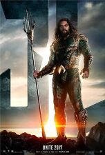POSTER JUSTICE LEAGUE JASON MOMOA ARTHUR CURRY AQUAMAN CINEMA LOCANDINA DVD #6