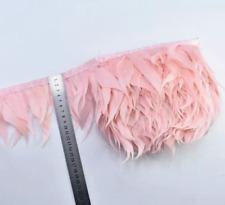 Pink Shredded Goose Feather Fringe Ribbon Trim Price for 30cm DIY Craft