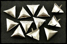 50pcs 14mm Nickel Faceted Triangle Studs NAILHEAD Spots BAGS Shoes DIY Emo S047
