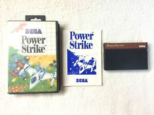 POWER STRIKE - SEGA MASTER SYSTEM - COMPLETE - VGC *RARE*