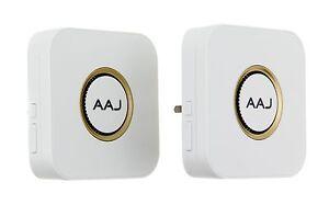 AAJ Wireless Cordless Doorbell IP55 Waterproof Transmitter [DOUBLE DOORBELL]