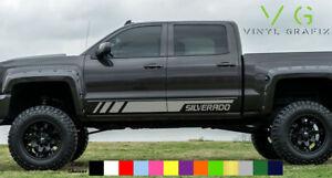 Chevrolet Chevy Silverado Vinyl Decal Sticker Graphics Kit Side Door ANY COLOR