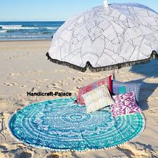 Indian Redondo Hippie Manta Para Playa Tapices De Pared Mandala Ombre Yoga