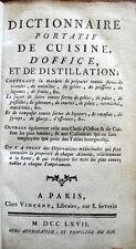 Dictionnaire portatif de cuisine, d'office et de distillation - 1767